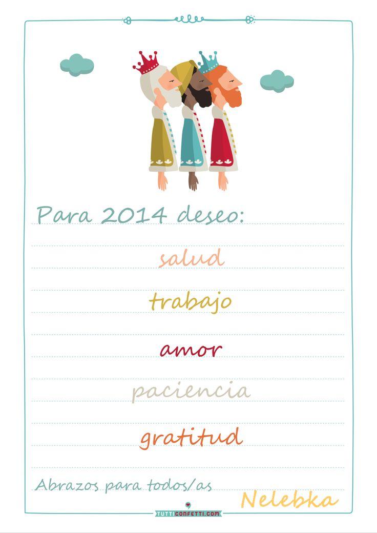 Carta a los Reyes Magos: Deseos para 2014 en Nelebka's Room  http://nelebkasroom.blogspot.com.es/2014/01/queridos-reyes-magos.html