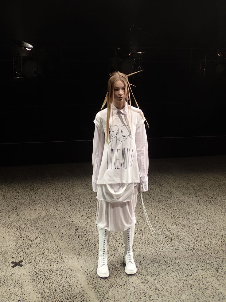 Dark and wittily sombre, NOM*d is an internationally respected icon on New Zealand's fashion landscape.  #nomd #nzfw #invertededge #fashion #nz