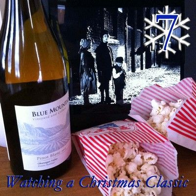 12 DAYS OF CHRISTMAS - Day 7: Watching a Christmas Classic....   Blue Mountain 2013 Pinot Blanc!  To enter our 12 days of Christmas contest visit: https://www.bluemountainwinery.com/blog/12-days-of-christmas-with-blue-mountain