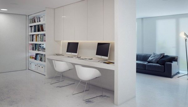 The couple emphasized the need for a 2 computer workspace setup  that is also glare free.