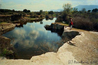 Año 2007: Las Pozas que rodean el Yacimiento Romano, son las antiguas canteras de granito inundadas por agua de lluvia