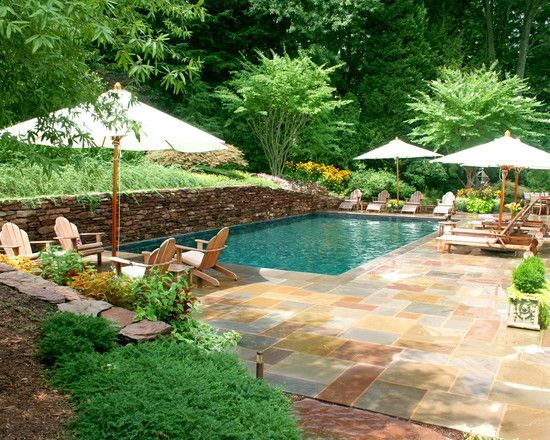 Beautiful: Small Pools, Small Yard, Swim Pools, Stones Wall, Small Backyard, Backyard Pools, Pools Design, Retaining Wall, Pools Ideas