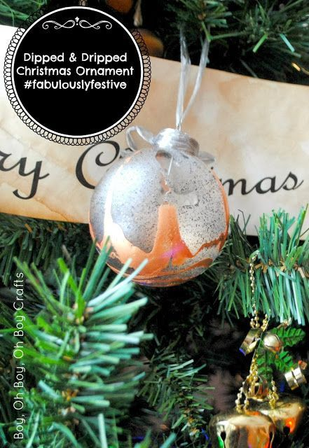 DIY dipped glass ornaments