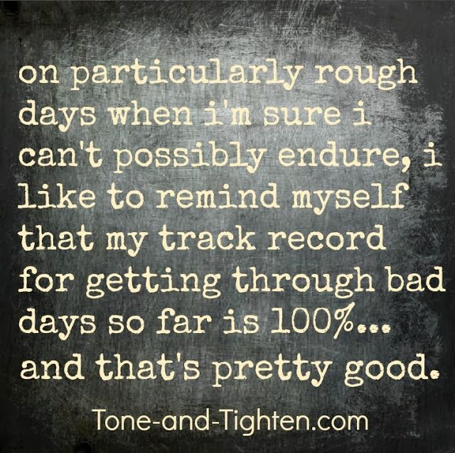 You're tougher than you think. You will get through this and you will be stronger because of it. #fitness #motivation #inspiration from Tone-and-Tighten.com