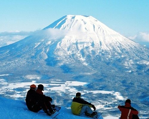niseko, #japan - move over aspen and tahoe, can you imagine skiing with a view of mt. fuji?