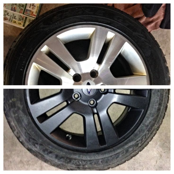 Before And After Plasti Dip Wheels Diy Plastidip