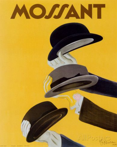 Chapeau Mossant Poster by Leonetto Cappiello at AllPosters.com