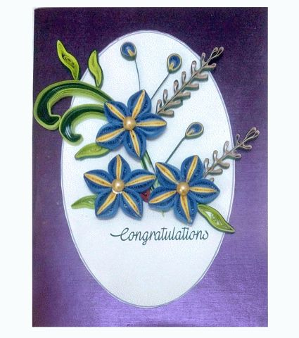Buy Handmade Paper quilling congratulations best wishes greeting card, easy online shopping