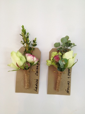Ladies Corsages of Spray Avalanche and Ranunculus