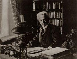 August Strindberg 1911, Swedish author apartment in Drottninggatan 85, Stockholm.