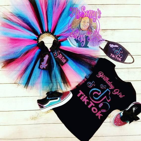 Tiktok Tutu Set In 2021 12 Year Old Birthday Party Ideas Kid Birthday Outfits Bday Party Kids