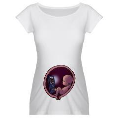 Funny maternity T shirt/Grappige zwangerschapskleding