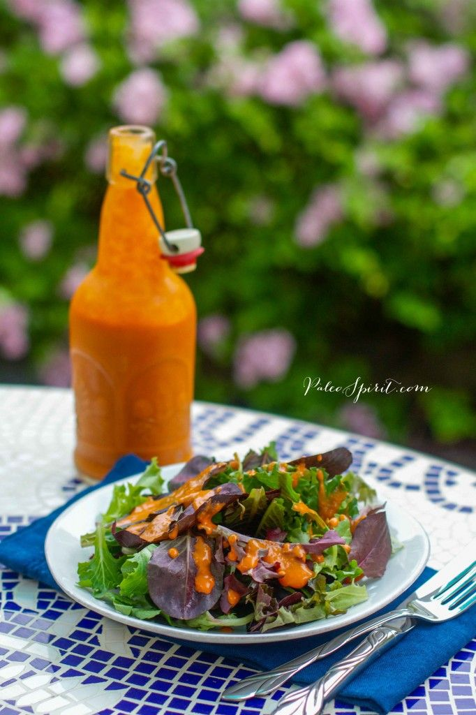 Paleo French Dressing:: Paleo Spirit  So far this is a winner at our house! My husband said its a cross between Thousand Island & Catalina.   The only change made was substituting Maple Syrup for Molasses since I didn't have it on hand. It's a must to let it sit for a few hours or overnight - this allows the seasonings and flavors to unite and become ONE.