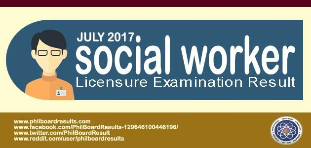 The complete list of passers in the July 2017 Social Workers Board Exam result is shown below, Officially released by PRC online.