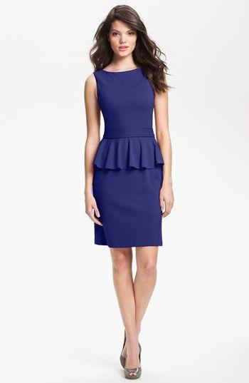 Isaac Mizrahi New York Ponte Knit Peplum Dress available at #Nordstrom