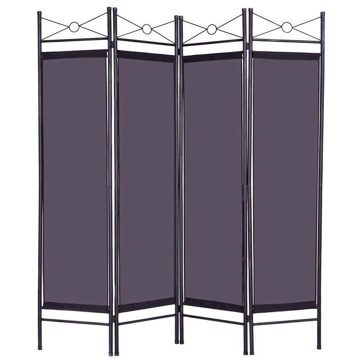 4 Panel Room Divider Metal Frame Bedoom Private Folding Screen Clothes Changer #4PanelRoomDivider #ModernClassic