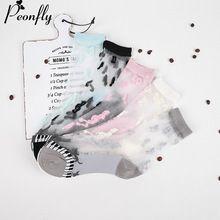2017 NOVA criativo meias Mulheres Lace Ruffle Tornozelo Meia Mole confortável De Seda Pura Malha Elástica de Malha Guarnição Babado Tornozelo Transparente meias(China (Mainland))