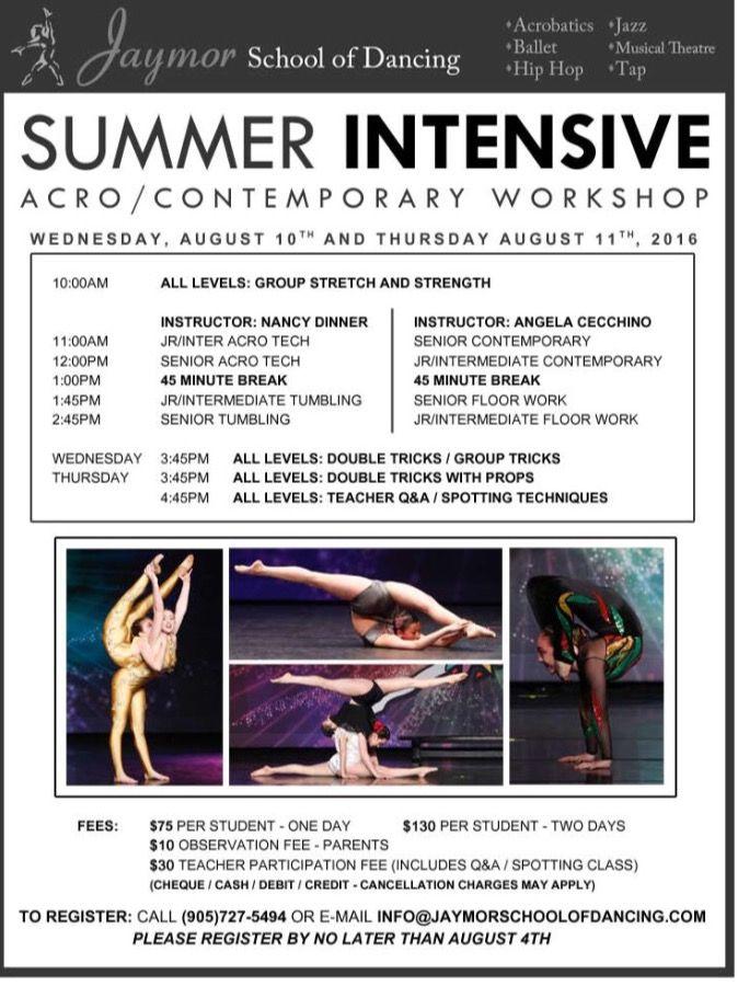 Jaymor Acro & Contemporary Summer Intensive