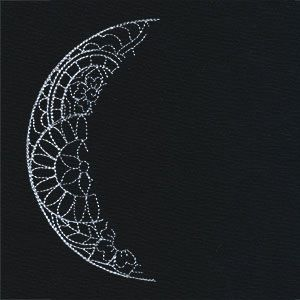Luna - Waning Crescent Moon design (UT9689) from UrbanThreads.com