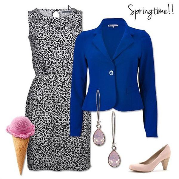 Styletip van de week: Jurk hanadress en Blazer Kiki Kobalt | http://www.dressesonly.nl/jurk-hanadress-pattern-soaked-in-luxury.html | #dress #blazer