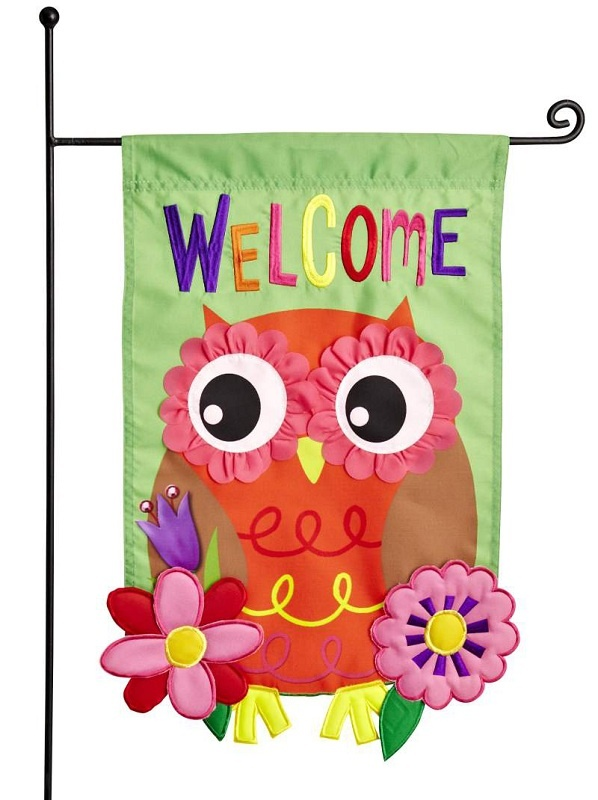 Show guests the way to the party with a cute Owl Garden Flag