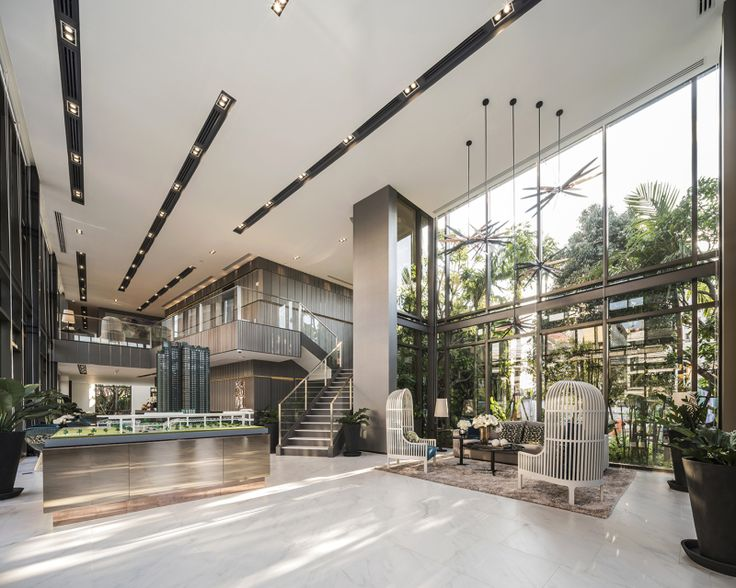 Whizdom rachada thapra sale office lobbies lobby for Office lobby design