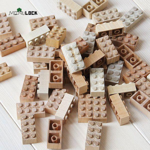 自然 子供 キッズ おもちゃ 木製ブロック。もくロック 48ピースブロックセット / MOKULOCK / 自然 子供 キッズ おもちゃ 玩具 お祝い プレゼント ギフト モクロック もくろっく 木製ブロック 木のブロック レゴ /