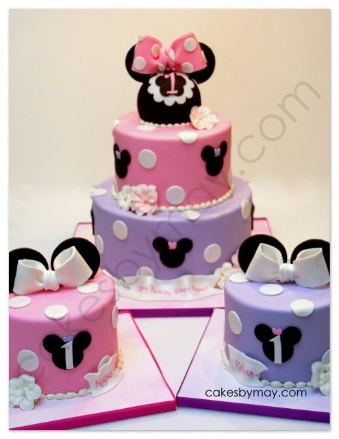 Cakes by Maylene: Minnie Mouse Twins Birthday Cake
