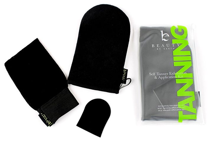 Self Tanner Mitts - Professional Bundle Kit Includes Exfoliating and Remover Mitt, Face Applicator and Tan Lotion Body Application Glove for Best Streak Free Sunless Tanner - Spray, Mousse, Cream or Gel *** Check this awesome image  : Travel Skincare