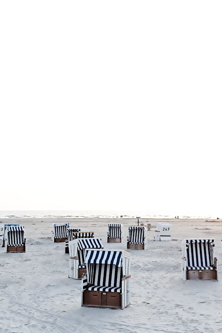 Wind shelters | north sea germany Sankt Peter Ording