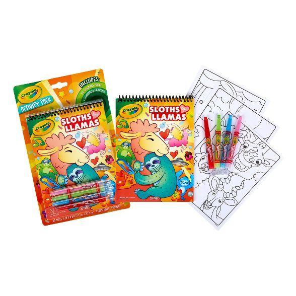 Crayola 30pg Sloths Love Llamas Activity Pack With 4 Twistable Crayons Twistable Crayons Stocking Stuffers For Kids Coloring Book Set