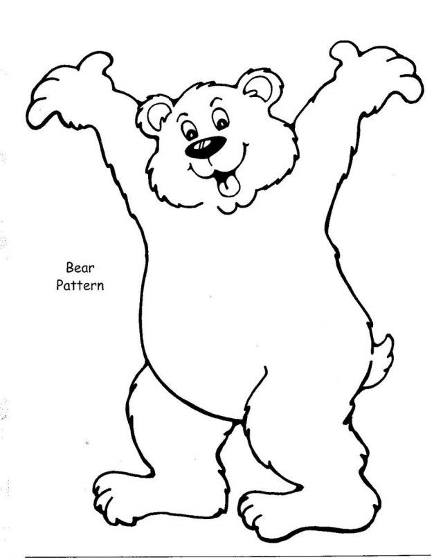 Cartoon standing bear coloring pages ~ Brown Bear Coloring Book Pages Printable Coloring Sheet ...