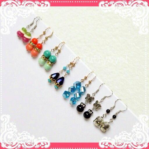 Anting // Anting Kupu-kupu // Anting Buddha // Beaded Earring // Handmade Earring