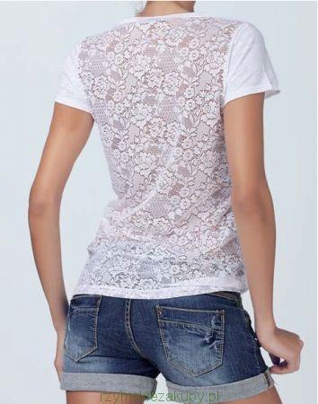 Koszulka na ramiączka Jadea -  koronkowe plecy