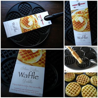 Home Cooking In Montana: Nordic Ware Silver Dollar Waffle Pan...and King Arthur's Recipe for Best Ever Waffles. = I bought this pan but didn't have a recipe to use.