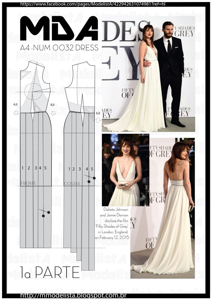 terça-feira, 17 de fevereiro de 2015 A4 - NUM 0032 DRESS COLORS - At the premiere of Fifty Shades of Grey, yesterday (12/2/2015) in London, Dakota Johnson was the feeling. Although Jamie Dornan, interpreter of Christian Grey, was very elegant (and accompanied by his wife, for the fans disappointment), Dakota drew attention for the dress. In Saint-Laurent off-white, the star did not even bother with the the deep neckline that looks !, is the envy of the outfits Claudia Leitte.