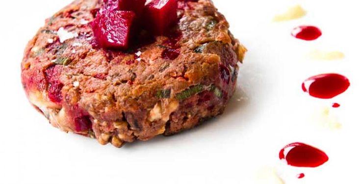 Burger med rødbeter og sjampinjong