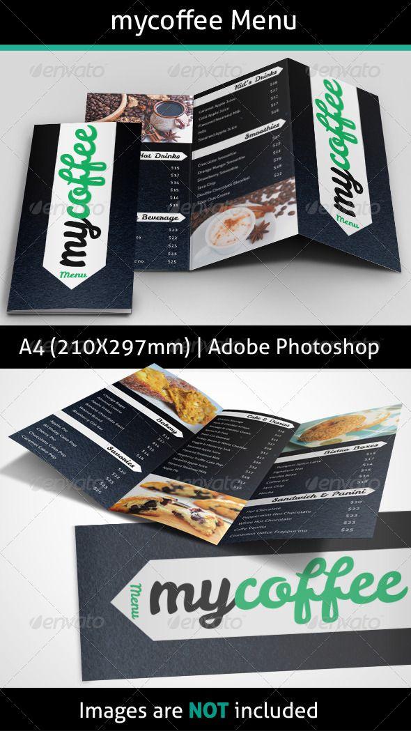 MyCoffee Menu - Food Menus Print Templates