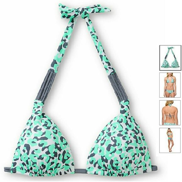 NWT pushup triangle bikini top NWT pushup triangle bikini top. Green grey white leopard print zumiez Swim Bikinis