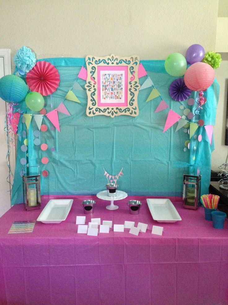 10th Birthday Party Background