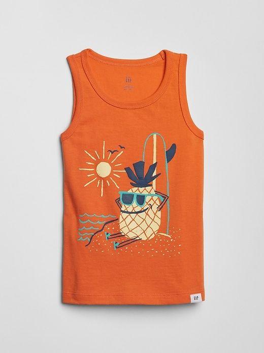 26453a901 Gap Babies' Toddler Graphic Tank Top Heatwave Orange   Products ...