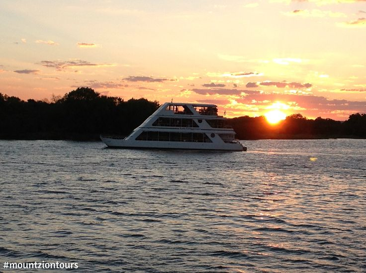 A Sunset Cruise on the Zambezi River above Victoria Falls allows you close observation of Hippo pods and Elephants with a Sundowner in hand.