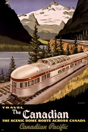 Travel The Canadian  Roger Couillard, Canadian Pacific Archives, 1955