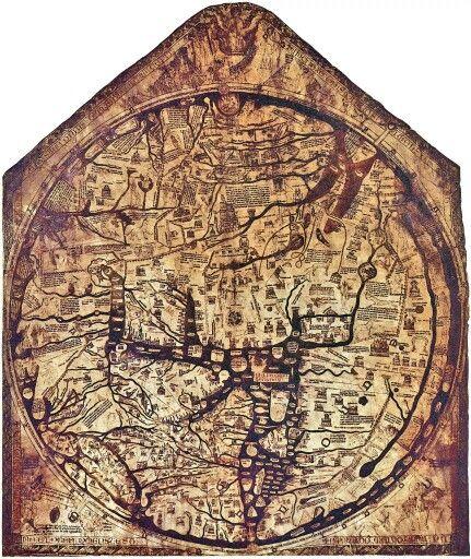 The Hereford Mappamundi 1285