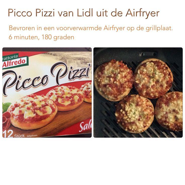 Picco Pizzi uit de Airfryer. 6 minuten, 180 graden. AK