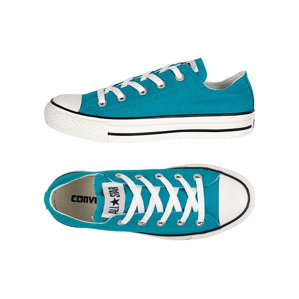 Converse Ox ($45) ❤ liked on Polyvore featuring shoes, sneakers, converse, blue, sapatos, converse trainers, blue sneakers, blue trainers, converse footwear and going out shoes