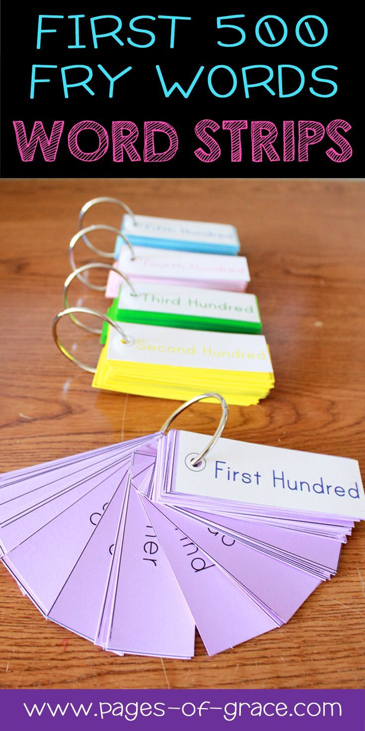 Are you looking for some fun ideas and activities for teaching sight words? This is a set of word strips for the first 500 Fry words. Just print each group of 100 on different colors of cardstock and put them on binder rings for easy and portable sight word practice. These are great for literacy centers and independent practice in the classroom and at home. Great for advanced preschool, kindergarten, and first grade. Help improve sight word fluency with this set of word strips!