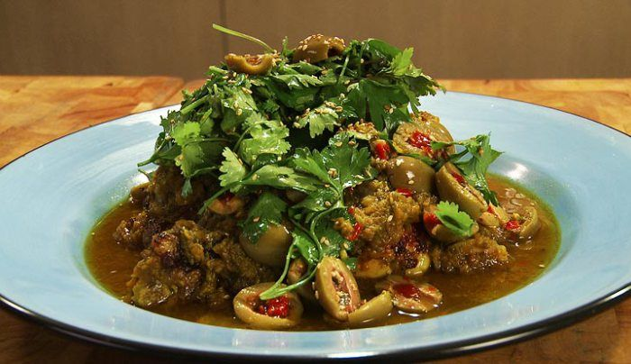 Moroccan Chicken with Lemon and Olives - Good Chef Bad Chef