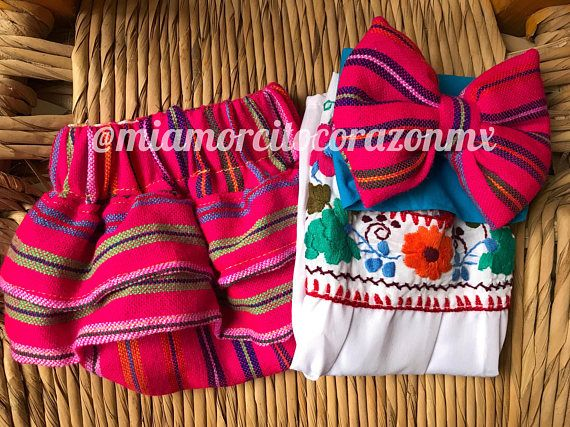 Mexican outfit baby bloomer and top mexican party first