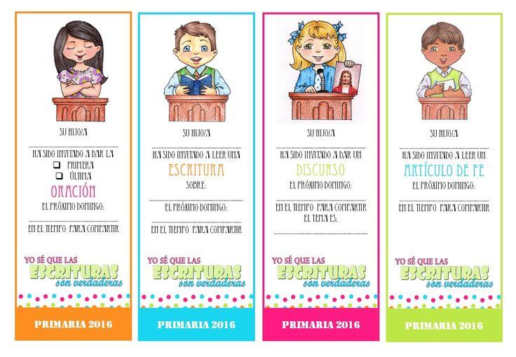 TARJETAS ASIGNACIONES Para el Tiempo para Compartir Primaria 2016 Por: Ideas SUD